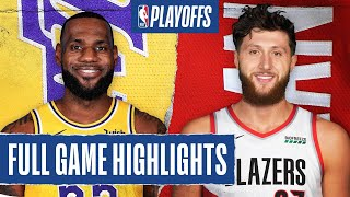 LAKERS at TRAIL BLAZERS | FULL GAME HIGHLIGHTS | August 24, 2020