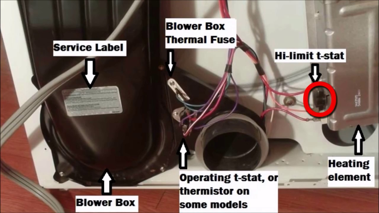 Whirlpool Kenmore Dryer Won T Heat Test Fuse Amp Thermostat
