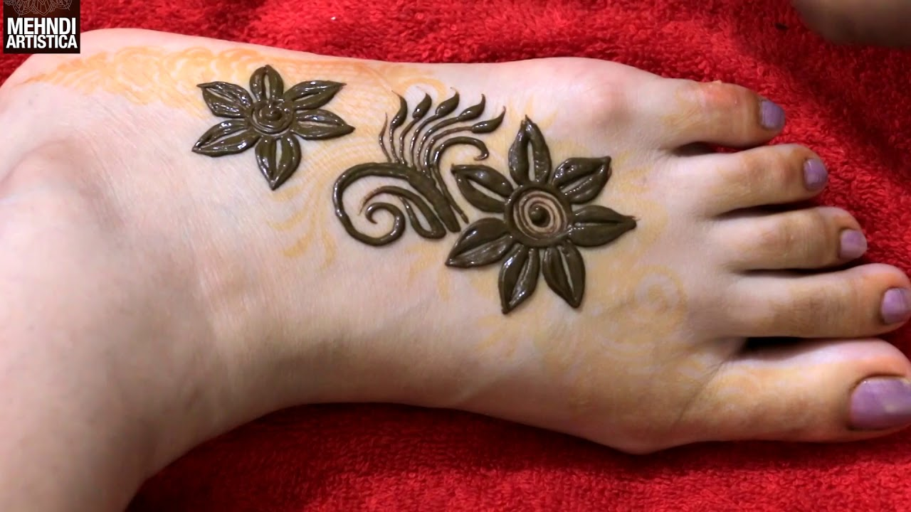 Learn To Draw Basic Mehndi Flower Design Floral With Leaf Mehendi