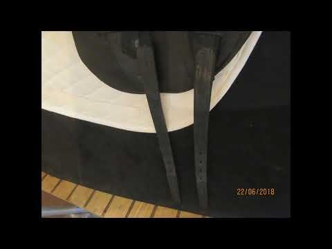 """Albion SLK Europa Used Dressage Saddle 17.5"""" MW 21854"""