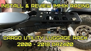 drz400 immix racing cargo rack luggage carrier utility rear tail holder drz400 install review