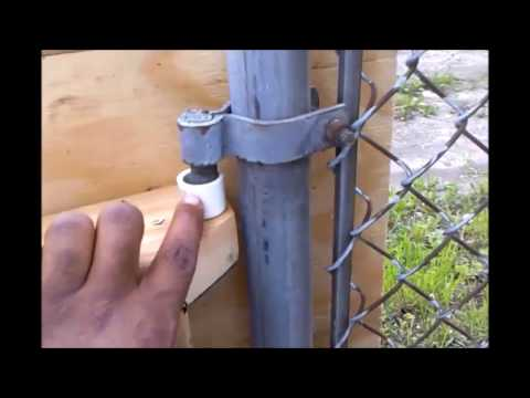 diy how to Build cheap Gate For Existing Chain Link Fence Wood Working Ebonygeek45