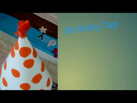 Birthday Paper Cap