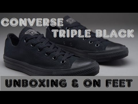 ab6717a4ae5388 Converse Triple Black Sneaker (Unboxing   Onfeet) Hindi