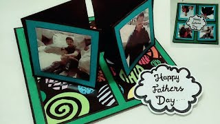 birthday card for fathers | 4 way twisting easel card tutorial |handmade birthday cards