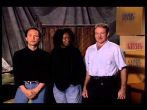 Robin Williams, Whoopie Goldberg and Billy Crystal out takes for comic relief III promo