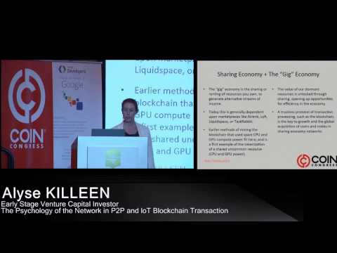 The Psychology of the Network in P2P and IoT Blockchain Transaction | Alyse KILLEEN