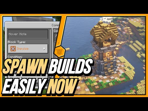 How to summon houses with a command block