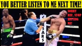 Top 10 Referees Who Hit A Fighter