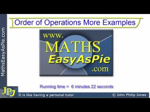 Mathematics Order of Operations More Examples