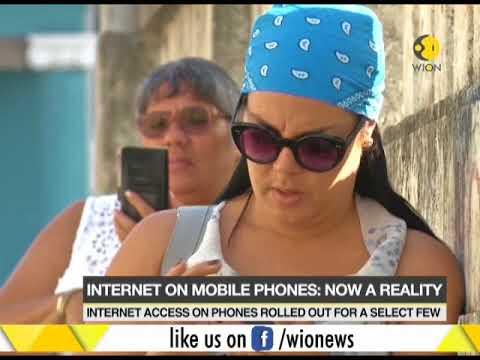 Cuba gets internet on cellphones