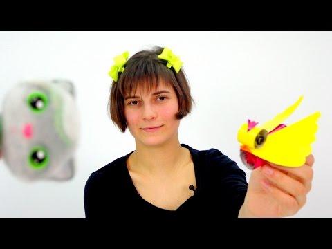 видео: Видео с игрушками! Поделки! Тося и птичка из бумаги!