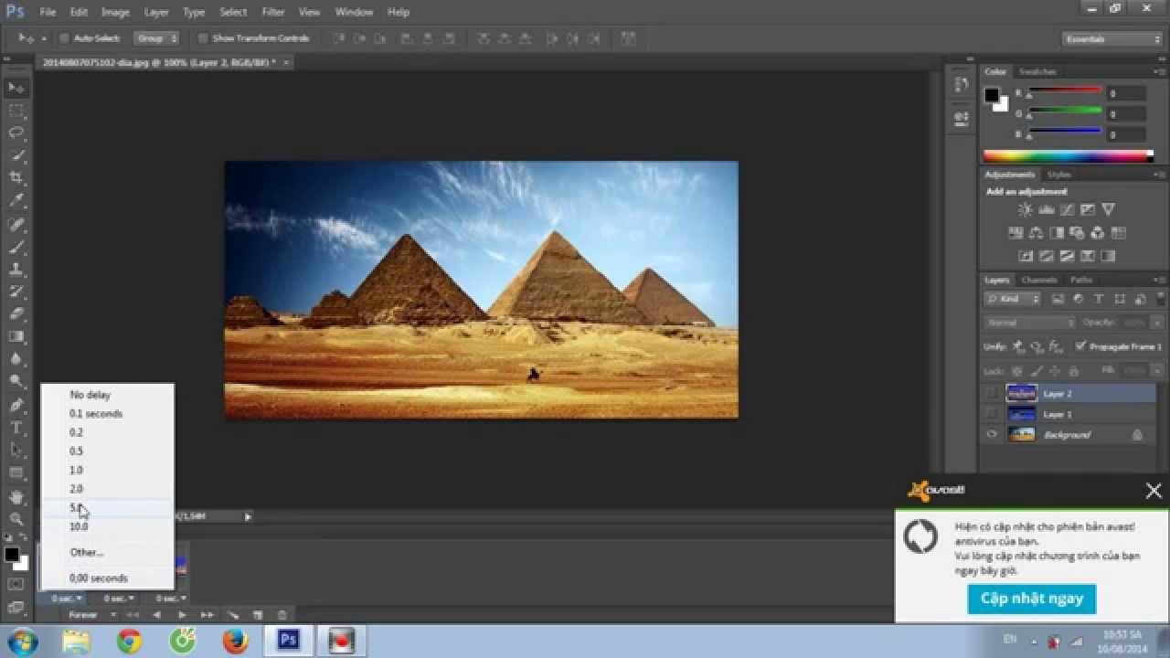 Tạo ảnh động trong photoshop rất đơn giản