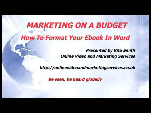 How To Format Your Ebook For Kindle Using Word - Marketing On A Budget episode 11