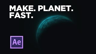Hızlı After Effects içinde bir Gezegen oluşturmak