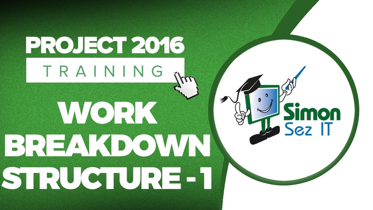 how to use work breakdown structure wbs in microsoft project 2016 part 1 youtube