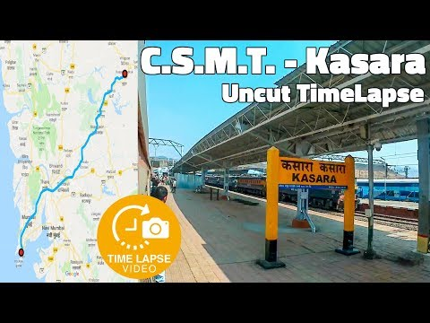 Mumbai Local Time-lapse - CSMT to Kasara Uncut Journey | 0.5 Sec Time lapse