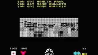 WOLFENSTEIN 3D game on ZX Spectrum 128!!