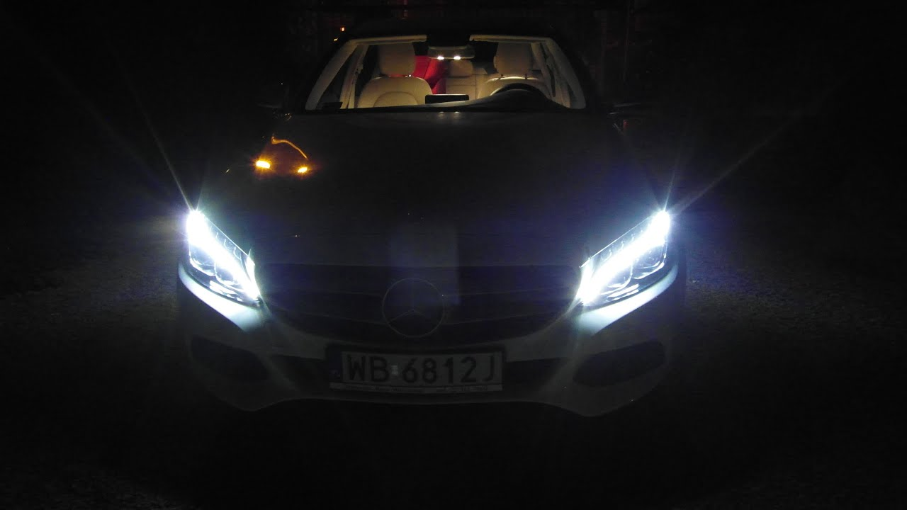 2015 Mercedes C-Class W205 ILS LED INTELLIGENT LIGHT SYSTEM REVIEW NIGHT  TEST C200 C300 C400