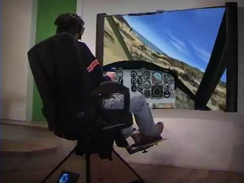 Virtual Reality FullMotion Helicopter Flight Simulator on