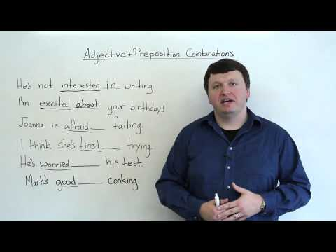 Adjective & Preposition Combinations (English Grammar)