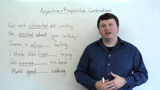 Adjective & Preposition Combinations (English Grammar)
