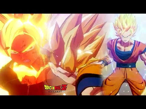 DBZ Kakarot: Goku All Transformations Super Saiyan 1-2-3 Cinematic Cutscenes [1080P 60FPS]