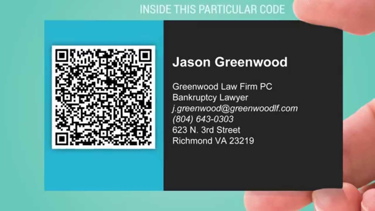 Share your vCard on Business Card with QR Code  YouTube