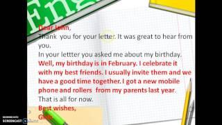 Как написать личное письмо по английскому языку с опорой на план? 5 класс
