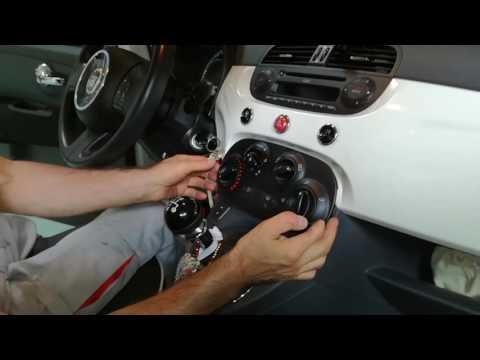 Tutorial smontaggio plancia strumenti riscaldamento Fiat 500