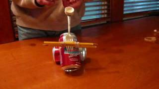 How to make a simple but powerful catapult out of household items. (No wood or power tools are used.) See http://spaghettiboxkids.