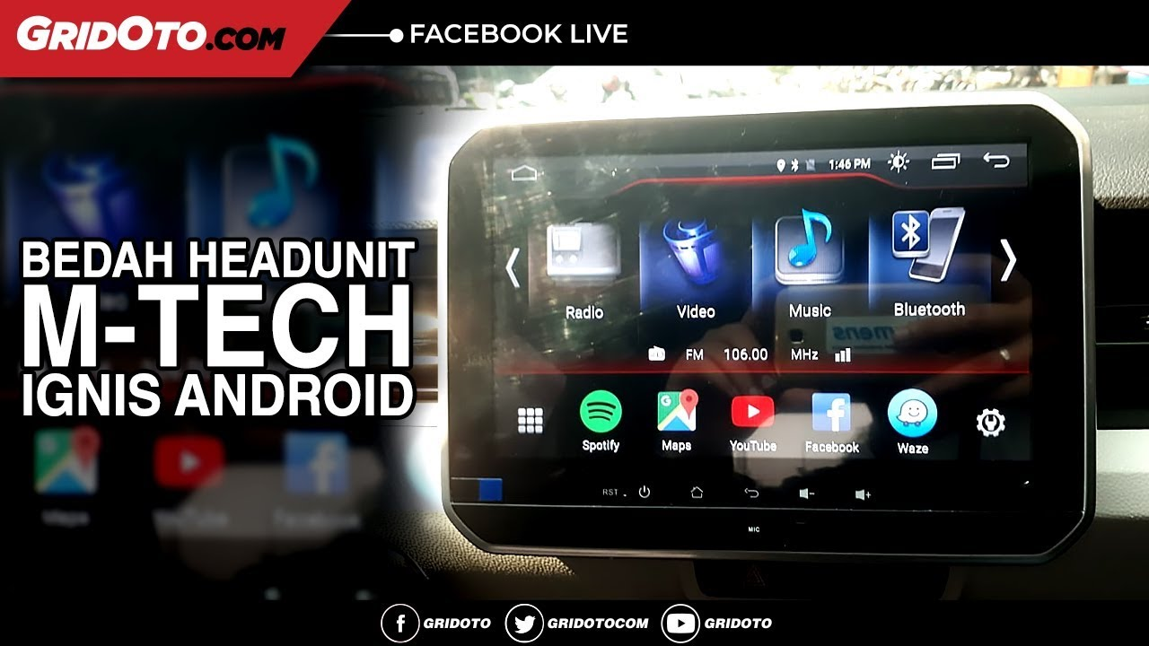 Bedah Headunit M-TECH Ignis Android