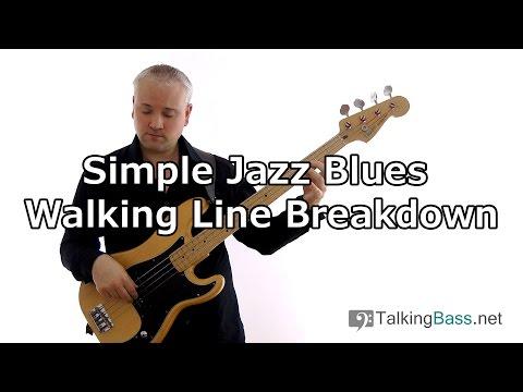 Simple Jazz Blues Walking Bass Line Breakdown