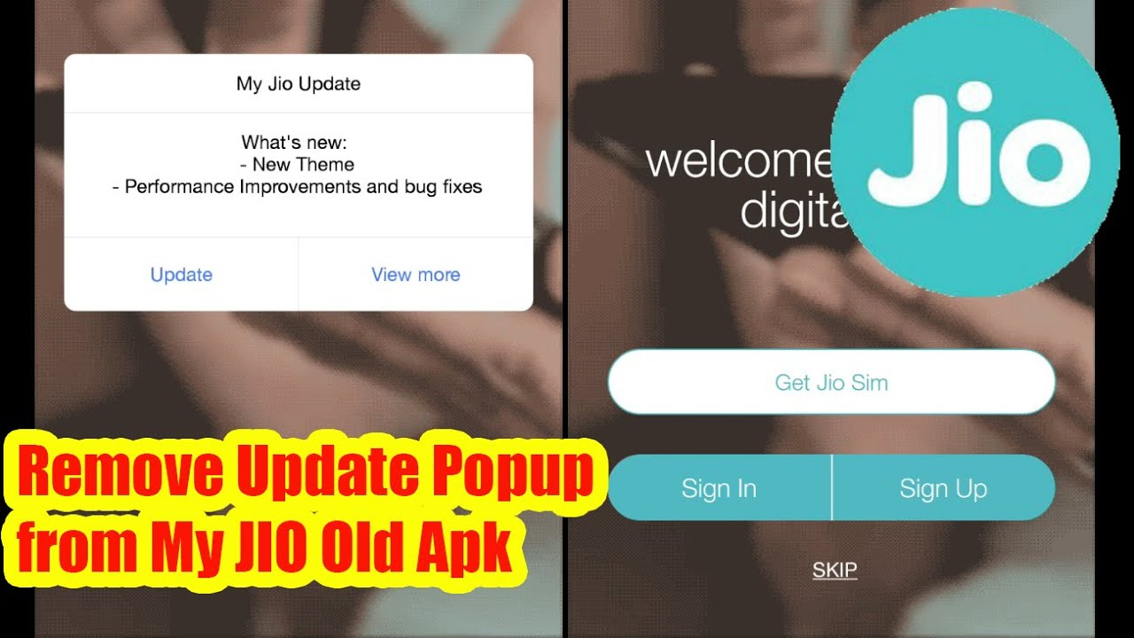 my jio old apk without update