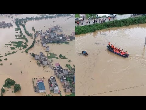 Bad weather triggers floods in E and SW China, millions affected