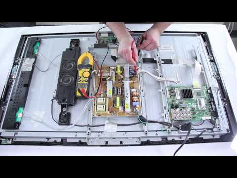 Samsung LCD TV Repair – TV Won't Turn On – How to Replace Power Supply & Main Board