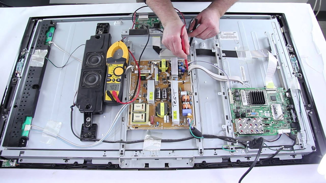 samsung lcd tv repair tv won t turn on how to replace power supply main board [ 1280 x 720 Pixel ]