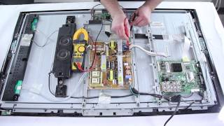 Samsung LCD TV Repair - TV Won't Turn On - How to Replace Power Supply & Main Board