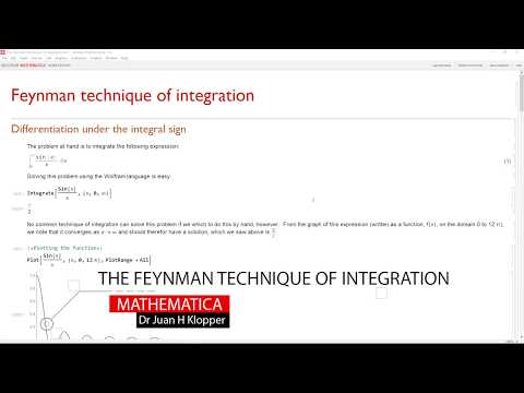 Feynman technique of integration