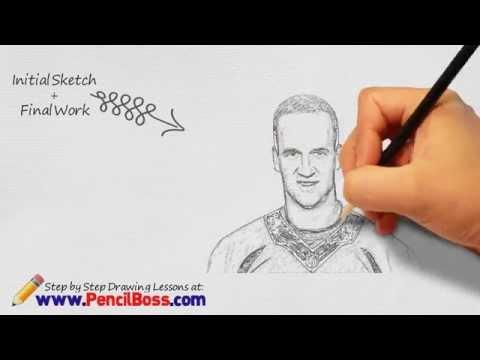 How to Draw Peyton Manning : Peyton Manning Speed-Drawing