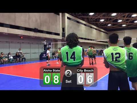 July 2, 2019 ALOHA STATE 16u vs City Beach Game 3 Set 2