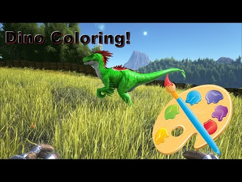 Ark Survival Evolved: How to Paint/Color dinos on Xbox One ( Admin Commands)