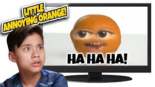 LITTLE BOY TURNS INTO AN ORANGE!!! Reacting to Little Annoying Orange! TOP 10 Countdown #6!