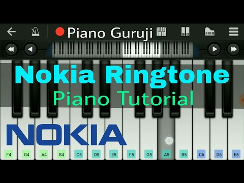 Nokia Tune (Ringtone) Piano Tutorial/Lesson | Learn Mobile Perfect Piano Notes - Piano Guruji
