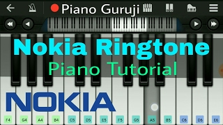 How to play nokia tune ringtone slow version - . piano lesson. very easy :) on perfect mobile redmi note 3 by aman seth hope uh like it learn pi...