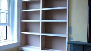 Built In Bookcases & Radiator Cover