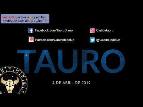 Horóscopo Diario - Tauro - 4 de Abril de 2019