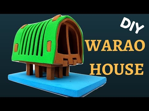 DIY Making of 3D Warao House | Craft House for Kids | PeterPater Tv