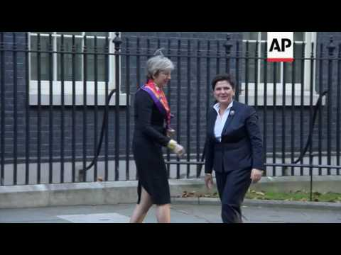 Polish PM meets UK's May for Brexit talks