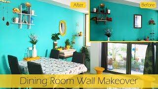 Dining Room Wall Makeover | Diy Dining Room Decor Ideas